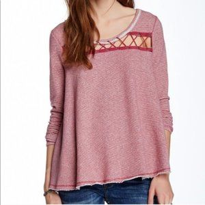 Free People Lacey Love Berry Pullover Medium